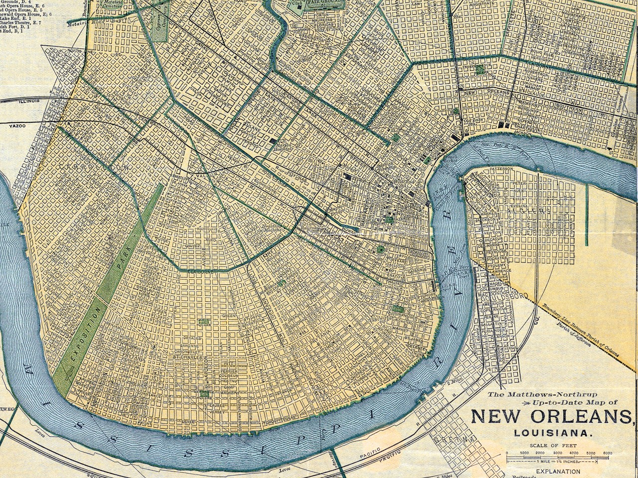 New Orleans Map, 1893