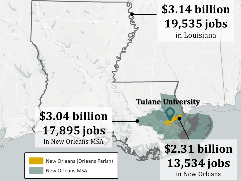 Tulane Economic Impact Image